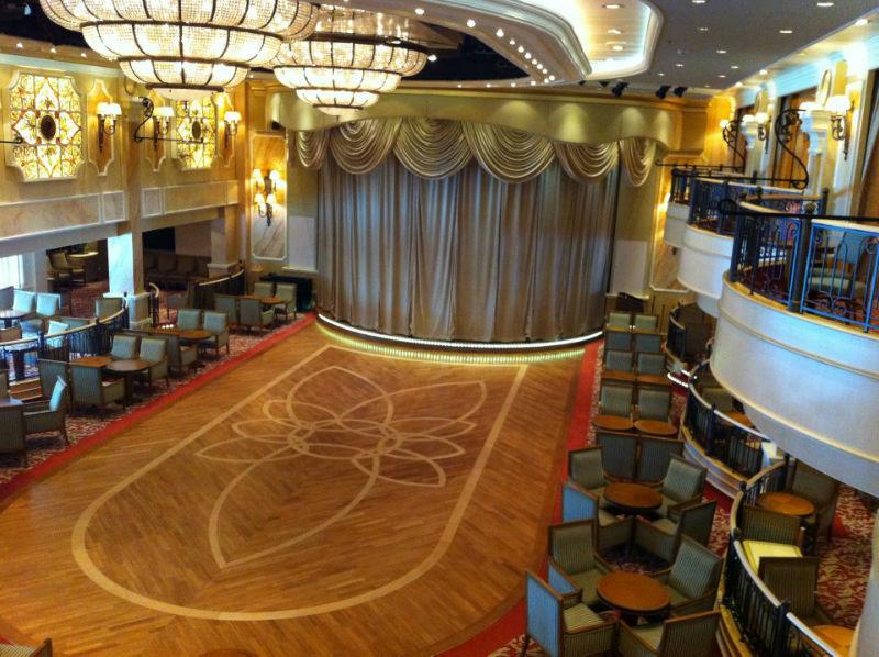 Beispiel: Saal, Foto: Cunard Line.
