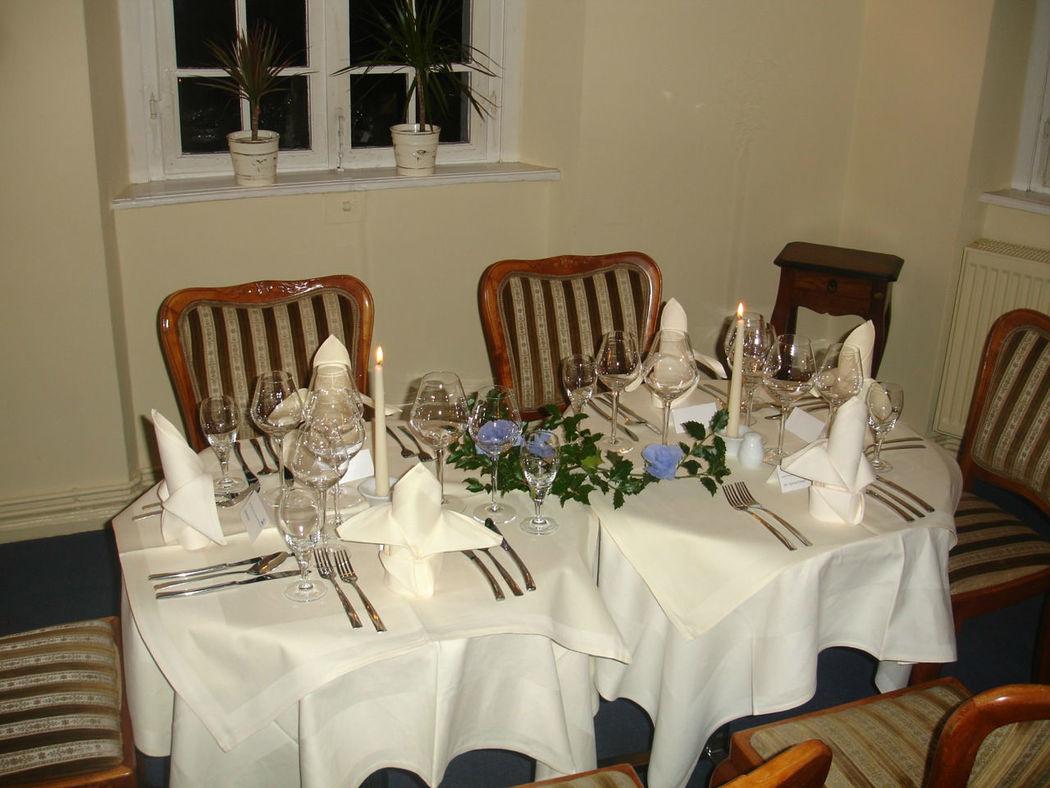 Beispiel: Gedeckter Tisch, Foto: Restaurant & Café Drachenhaus.
