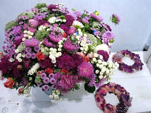 Beispiel: Wunderschöne Dekoelemente, Foto: Frankfurter Blumenbote.