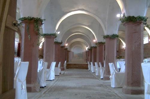 Beispiel: Gewölbesaal Mittelgang, Foto: Hofgut Habitzheim.