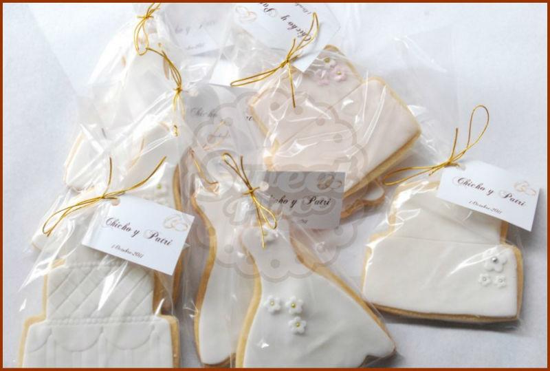 Cookies personalizadas como detalle de boda