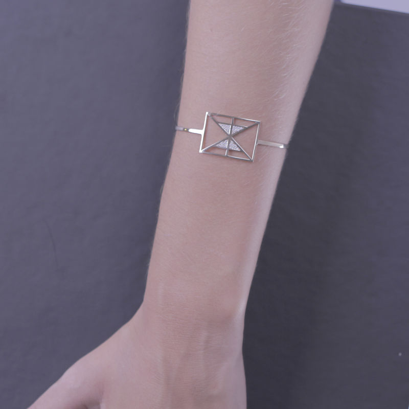 Afew Jewels - Pulsera Tai Po 18K Oro Rosa + 0. 2Ct Brillantes Blancos