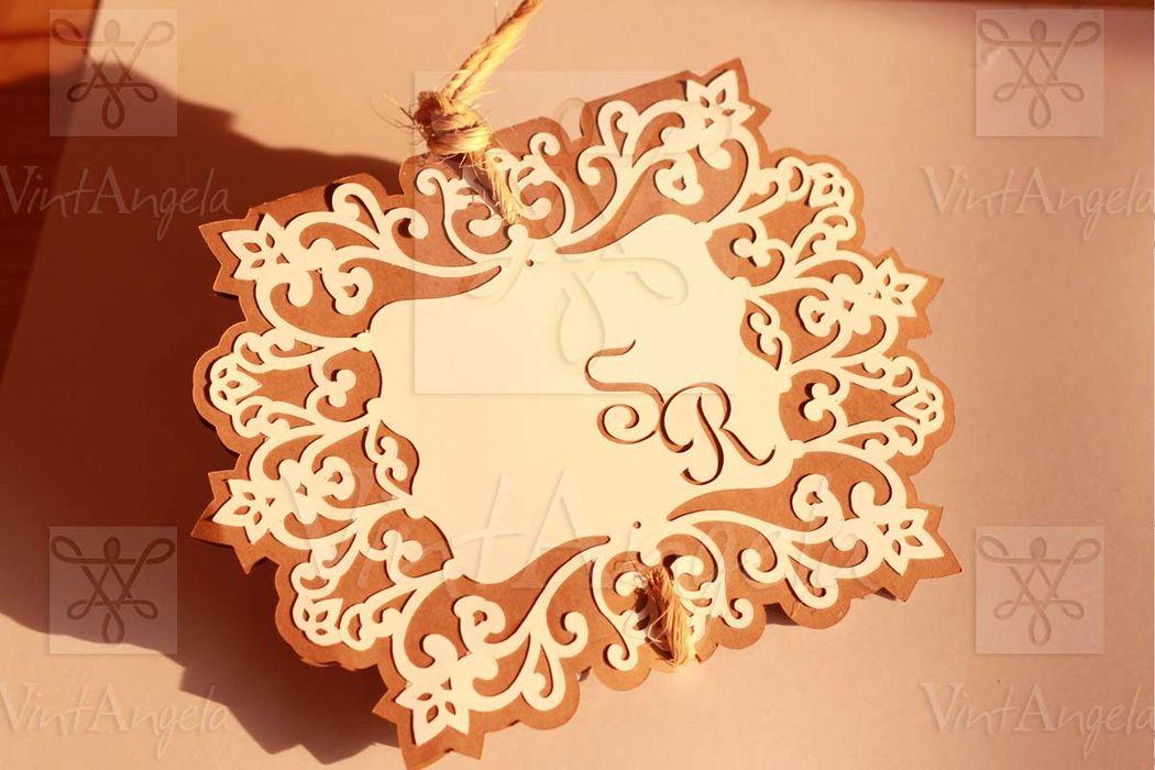 Vintangela: Invitaciones de bodas te presenta este modelo vintage, ubicados en Cuernavaca pero envian a todo el país.