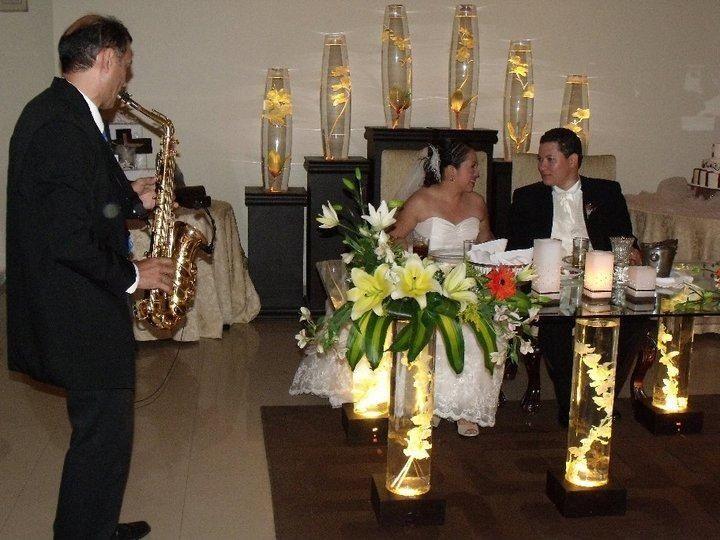 Jazz con Saxofón durante la Cena