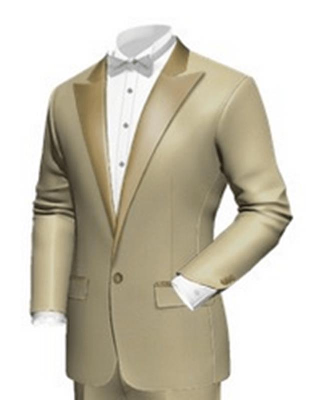 Beispiel: Hochzeitsanzug beige, Foto: Poshodorosuits.