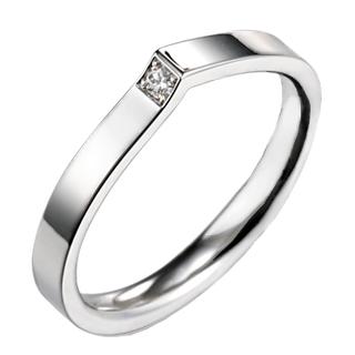 Verse Joaillerie | Alianças de Casamento, Anéis de Noivado Aliança com diamante - VERANO. Aliança de ouro branco 18k.