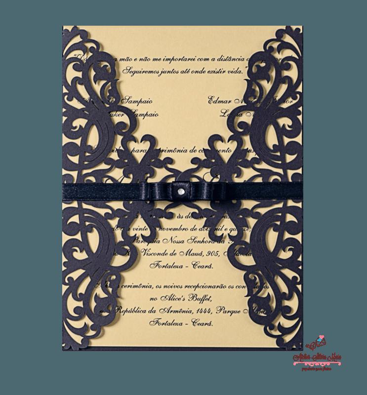 Convite Corte A Laser  - Ref . CL.025