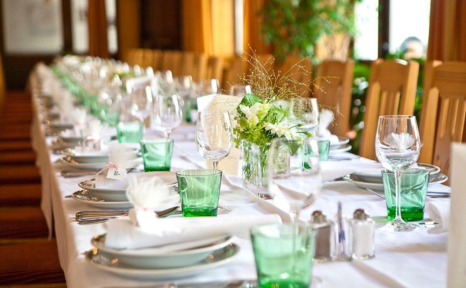 Beispiel: Bankett - Tischdekoration, Foto: Altes Brauhaus.