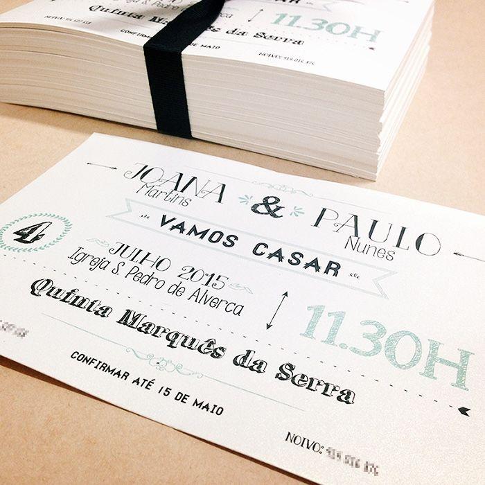 Convites para casamento da Joana e Paulo