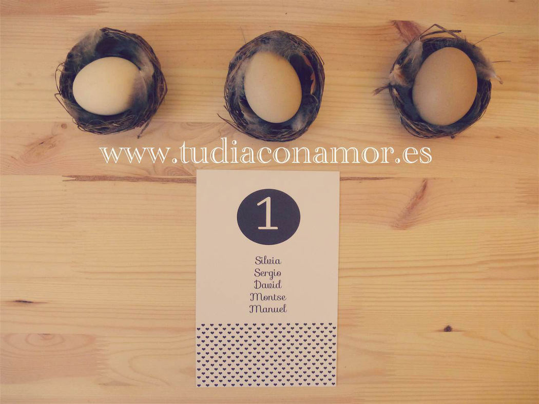 Mesero o seating plan para boda