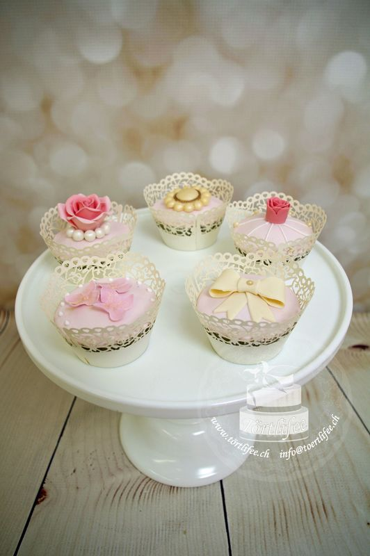 Cupcakes mit Fondant Dekor