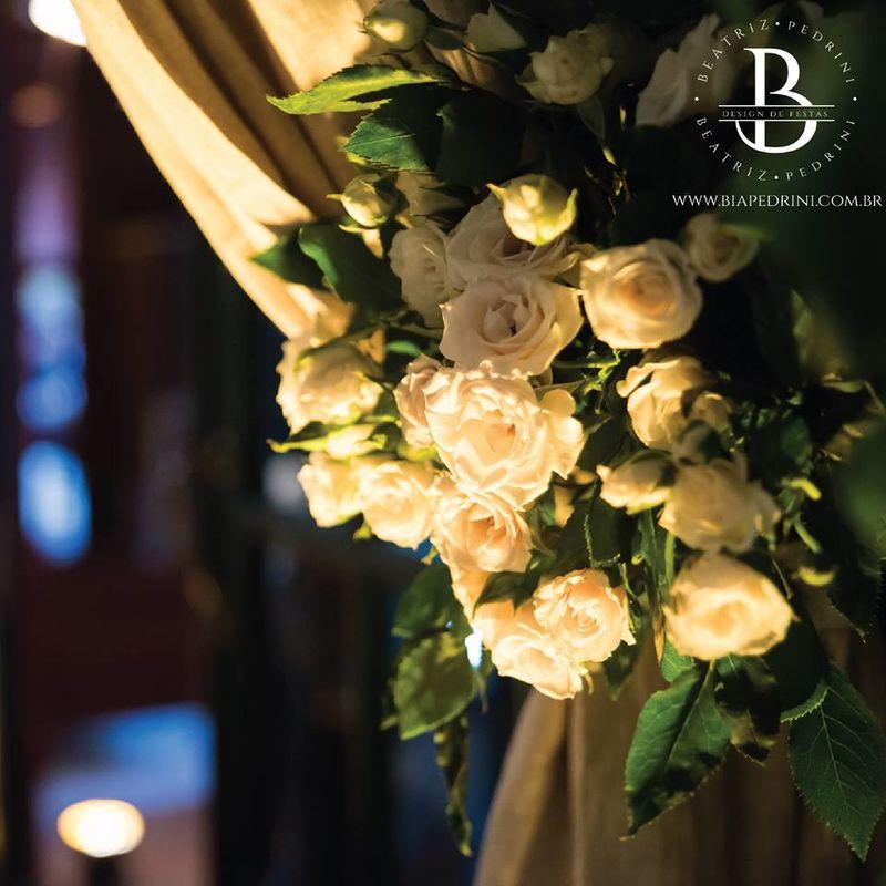 Wedding- Detalhe: arranjo para cortina