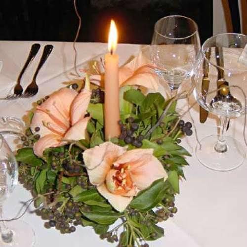 Beispiel: Tischdekoration, Foto: Blumen Leitgeb-Hitzler.