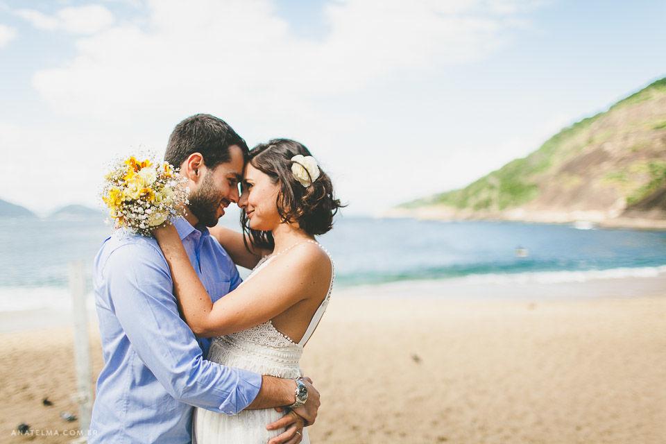 Ana Telma - Casamento: Dei e Fred - Ensaio dos Noivos - Praia Vermelha - Rio de Janeiro - RJ