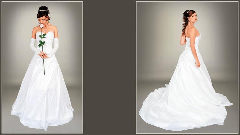Beispiel: Brautkleider für jeden Geschmack, Foto: s'Bruthüsli.