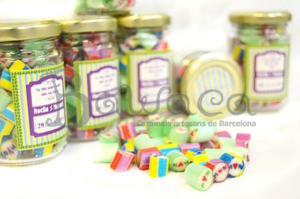 Caramelos personalizados en bote de 60 gr
