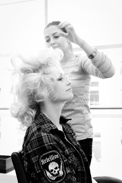 Beispiel: Brautstyling bei British Hairways - Kiel, Foto: Rea Papke Photography.