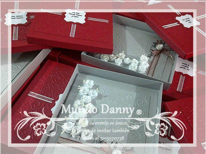 Invitaciones Luxury Box, Flores de tela
