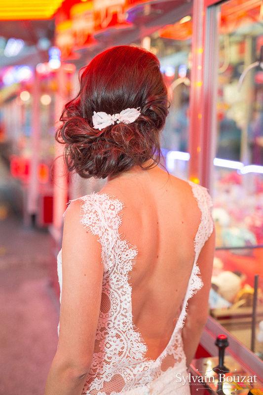 Photo : Sylvain Bouzat Modèle : Sarah A. Gimenez Robe de mariée : Lauren créations Coiffure : Amélie Gouttenoire