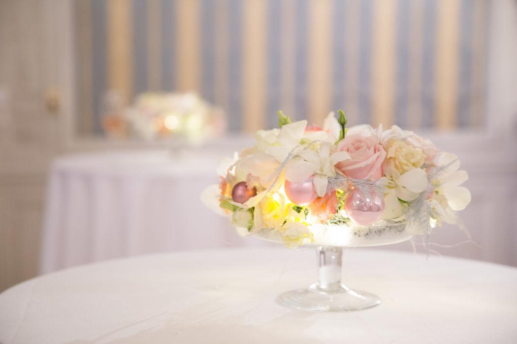 Beispiel: romantische Blumendekoration Foto: wedding AGENCY