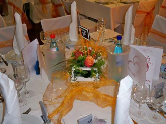 Beispiel: Tischdekoration, Foto: SeePavillon am Tegeler See.