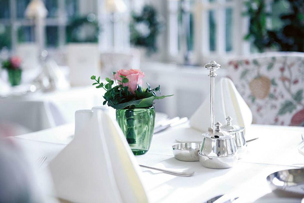 Beispiel: Tischdekoration, Foto: Schloss Münchhausen.