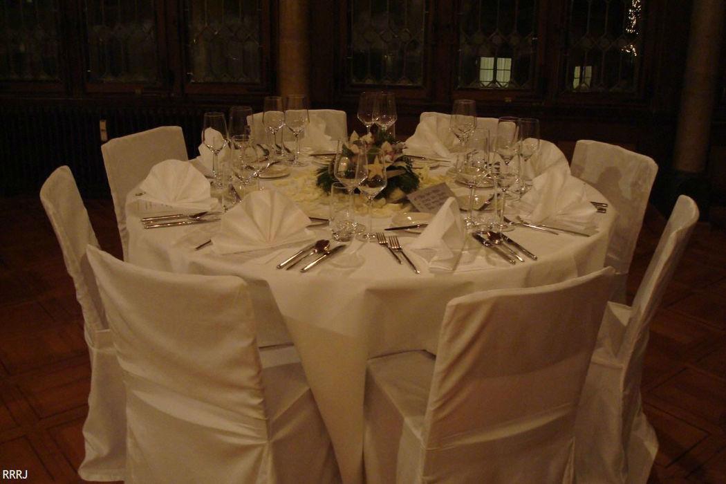 Beispiel: Tischdekoration, Foto: Restaurant Rathaus.