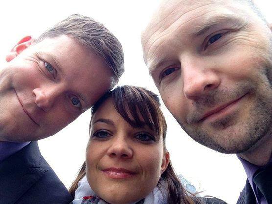 Beispiel: Das Trio, Foto: The Wedding Crashers.