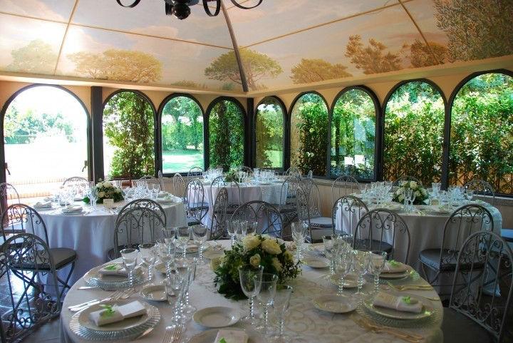 Autumn wedding reception