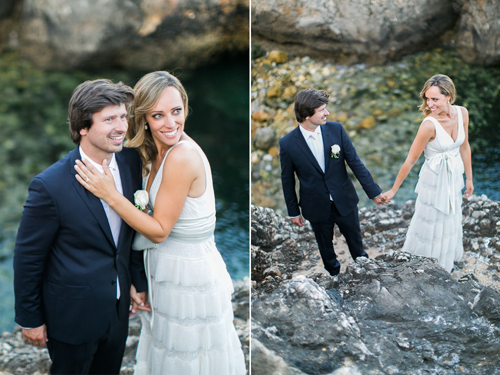 Real Summer Destination Wedding by the Sea