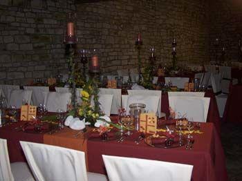 Beispiel: Hochzeitstafel, Foto: Espenhof.