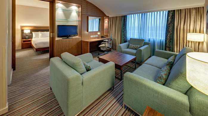 Beispiel: Suite, Foto: Hilton Garden Inn Frankfurt Airport.