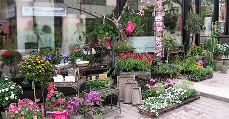 Beispiel: Ladengeschäft, Foto: Frankfurter Blumenbote.