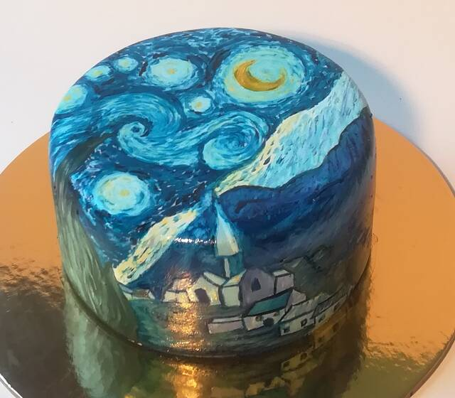 Torta Pintada Van Gogh