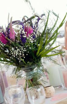 bouquet de table demandé : champêtre