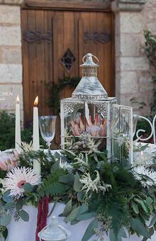 Décoration table mariage bohème