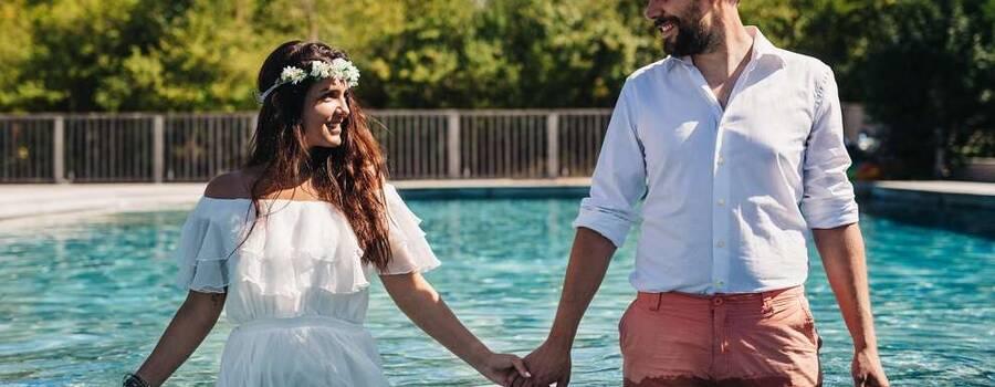 Insolite ! séance photos dans la piscine