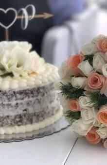 naked cake para un matrimonio civil en La Trastienda