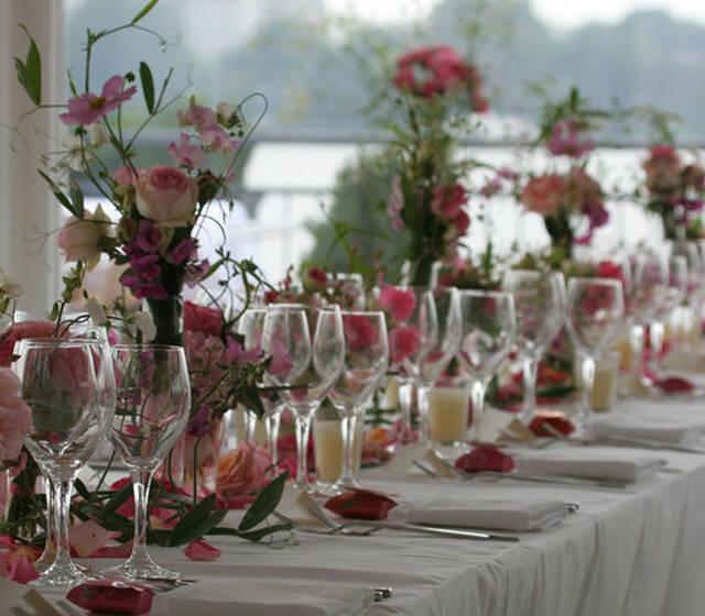 Beispiel: Dekoration Ihrer Hochzeitsfeier, Foto: Brunckhorst Catering.