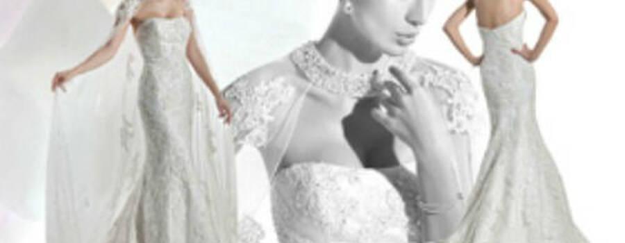 Beispiel: Hochzeitskleid, Foto: Hochzeitsmoden Eckert.