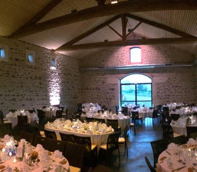 Salle de réception - Cuvage Château des Loges