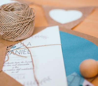 Invitación de boda de Paula y Daniel