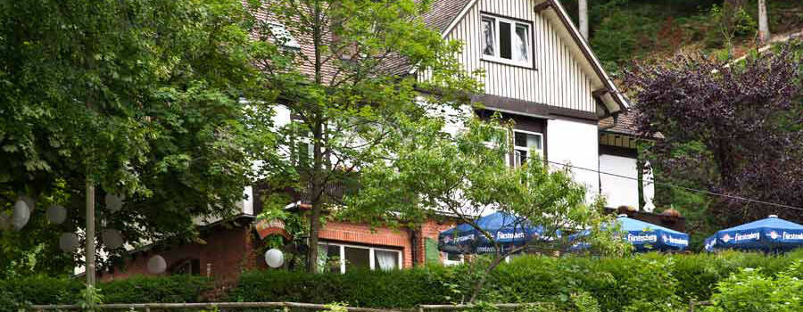 Beispiel: Außenansicht, Foto: Waldrestaurant St. Ottilien.
