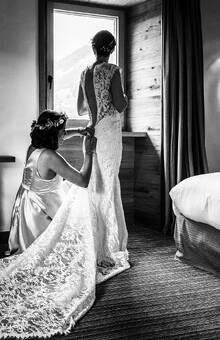 Organisation mariage Megève - Aurélie & David - Préparatifs de la mariée