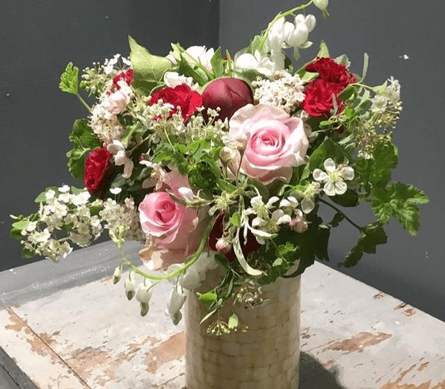 Le bouquet de mariee : Douceur Rose
