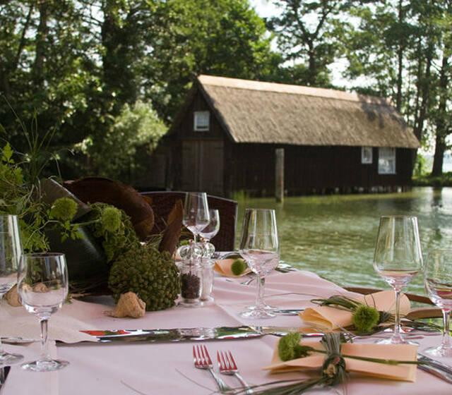 Beispiel: Sommergarten - Tischgedeck Foto: Seewarte.