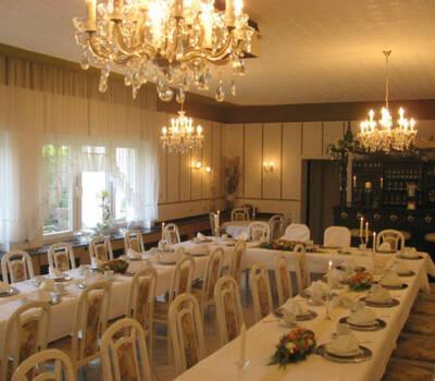 Beispiel: Bankett - Tischdekoration, Foto: Restaurant Rosenhof.