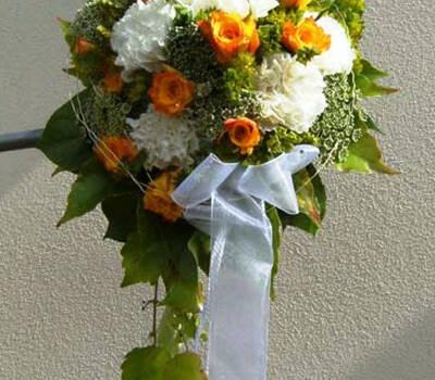 Beispiel: Brautstrauß, Foto: Blumen- und Gartenbau Schulz.