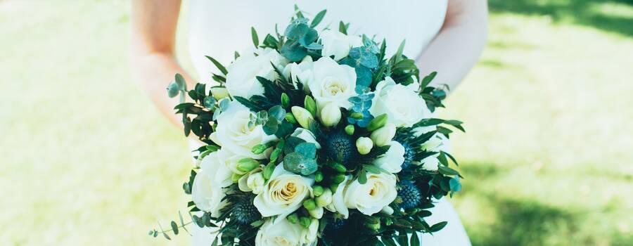 Bouquet de mariée bleu / Estelle Leclerc