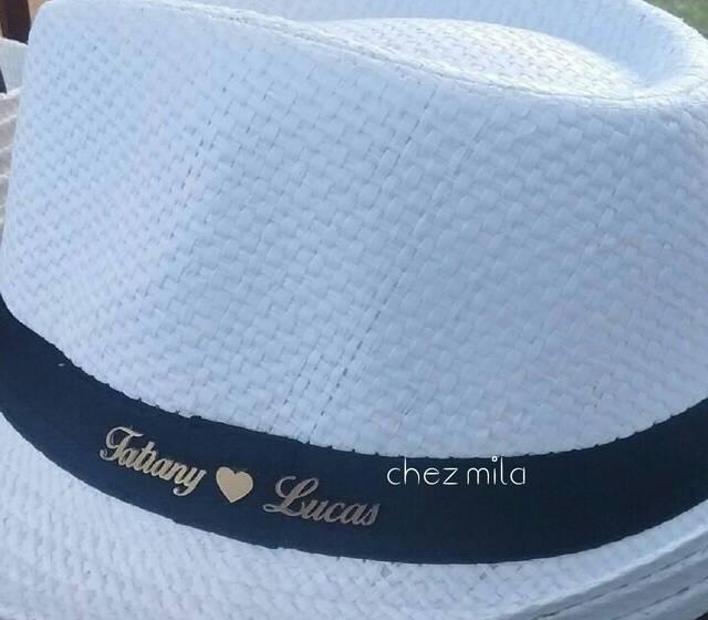 Chez Mila - Chapéu Panamá personalizado